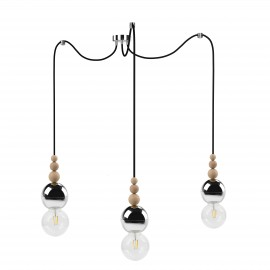 Loft Bala 3 chrome pendant lamp