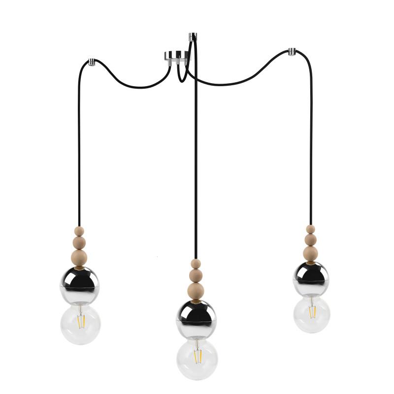 Loft Bala 3 chrome pendant lamp