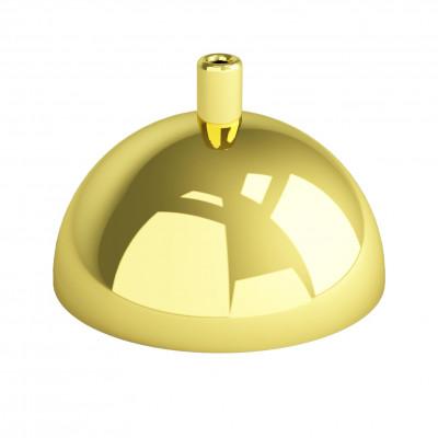 Metalowa osłonka sufitowa półkula - złota Kolorowe Kable