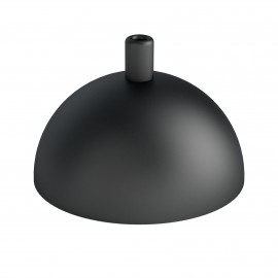 Metalowa osłonka sufitowa półkula - czarna strukturalna Kolorowe Kable