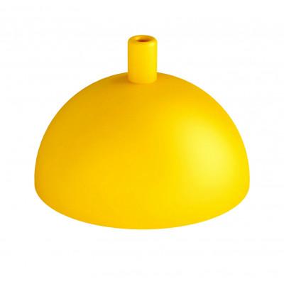 Metalowa osłonka sufitowa półkula - żółta strukturalna Kolorowe Kable