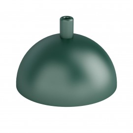 Hemisphere metal ceiling cover - dark green structural
