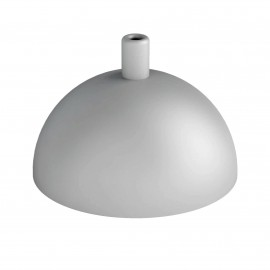 Hemisphere metal ceiling cover - structural gray with silver particles