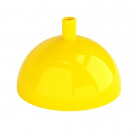 Hemisphere metal ceiling cover - yellow