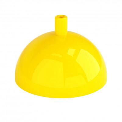 Metalowa osłonka sufitowa półkula - żółta połysk Kolorowe Kable