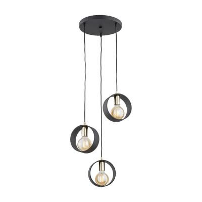 Ceiling lamp / hanging lamp black AMADORA 1449 ARGON