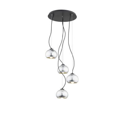 Black ceiling lamp FOXY 1674 ARGON