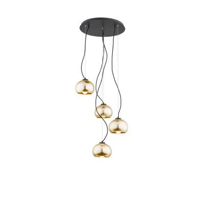 Black ceiling lamp FRIDA 1673 ARGON