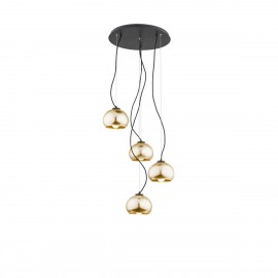 Wisząca lampa sufitowa, plafon na okrągłej podsufitce złoty FRIDA 1673 ARGON