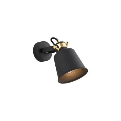 Lampa sufitowa / lampa ścienna / reflektor czarny KONGO 4161 ARGON