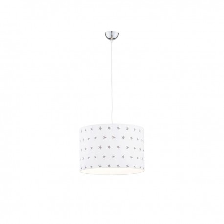 Ceiling lamp, hanging lamp MAGIC 4133 white shade with gray stars ARGON