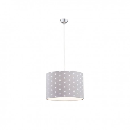 Ceiling lamp, hanging lamp MAGIC 4134 gray shade with white stars ARGON