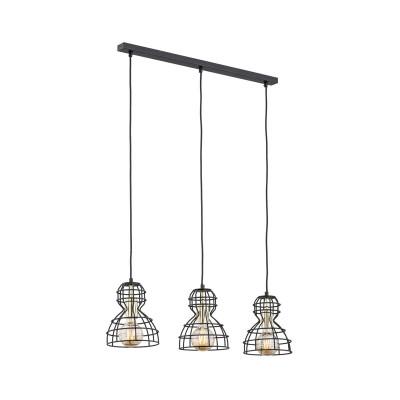 Black ceiling lamp MARCO 1419 ARGON
