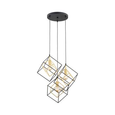 Lampa sufitowa / lampa wisząca czarna KRETA 1455 ARGON