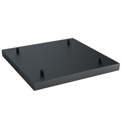 Kwadratowa metalowa osłonka sufitowa 40x40cm lakierowana w kolorze czarnym strukturalnym - na cztery przewody Kolorowe Kable