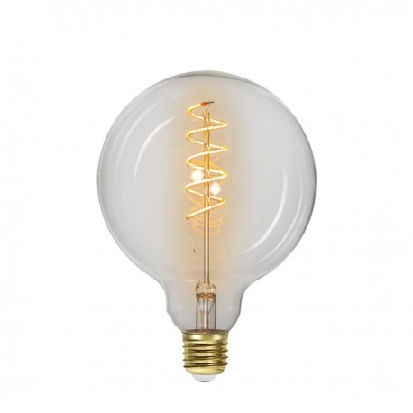 LED LAMP E27 G125 DECOLED SPIRAL CLEAR