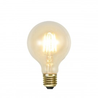 SOFT GLOW FILAMENT żarówka dekoracyjna LED ściemnialna G80 1,3W 2100K 80mm Star Trading