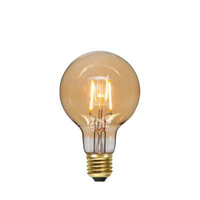 SOFT GLOW FILAMENT bursztynowa żarówka dekoracyjna LED G80 0,75W 2000K 80mm Star Trading