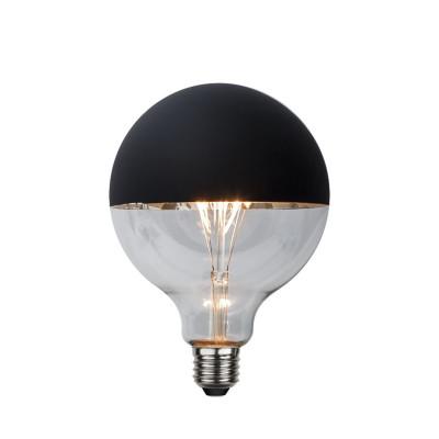 TOP COATED czarna żarówka dekoracyjna LED 125mm 2,8W 2600K ściemnialna Star Trading