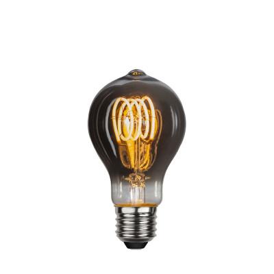 DECOLED SPIRAL FLEXIFILAMENT żarówka dekoracyjna z czarnym szkłem LED A60 3,7W ściemnialna 2100K Star Trading