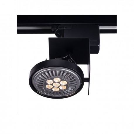 Reflector lamp for busbars HAMADA 6603 adjustable metal luminaire for 3-phase rail system SHILO