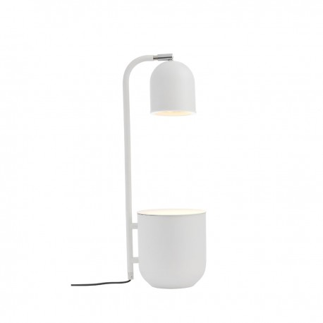 BOTANICA white lamp with a flower pot, standing lamp for the table and desk KASPA