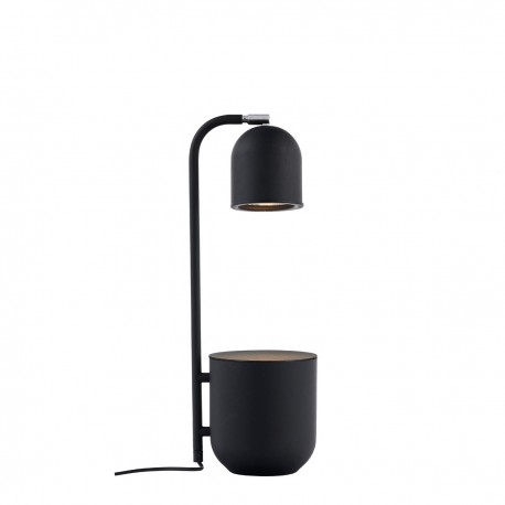 BOTANICA black lamp with a flower pot, standing lamp for the table and desk KASPA