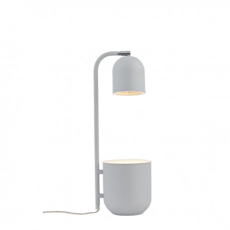 BOTANICA grey lamp with a flower pot, standing lamp for the table and desk KASPA