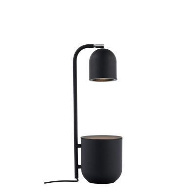 BOTANICA grafitowa lampa z doniczką, lampka stojąca na stolik i biurko KASPA