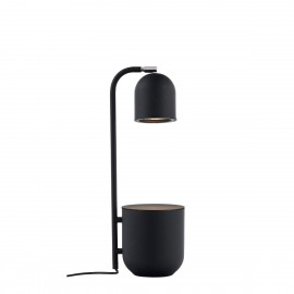 BOTANICA graphite lamp with a flower pot, standing lamp for the table and desk KASPA