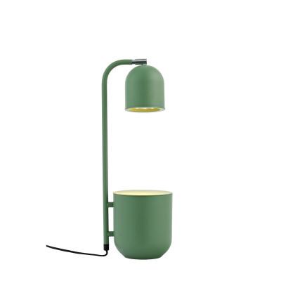 BOTANICA miętowa lampa z doniczką, lampka stojąca na stolik i biurko KASPA