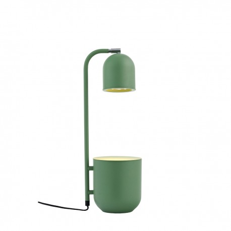 BOTANICA mint lamp with a flower pot, standing lamp for the table and desk KASPA