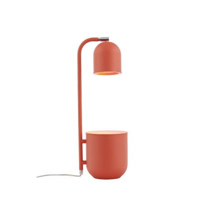 BOTANICA koralowa lampa z doniczką, lampka stojąca na stolik i biurko KASPA