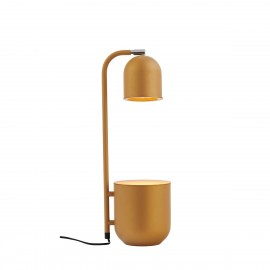 BOTANICA mustard lamp with a flower pot, standing lamp for the table and desk KASPA