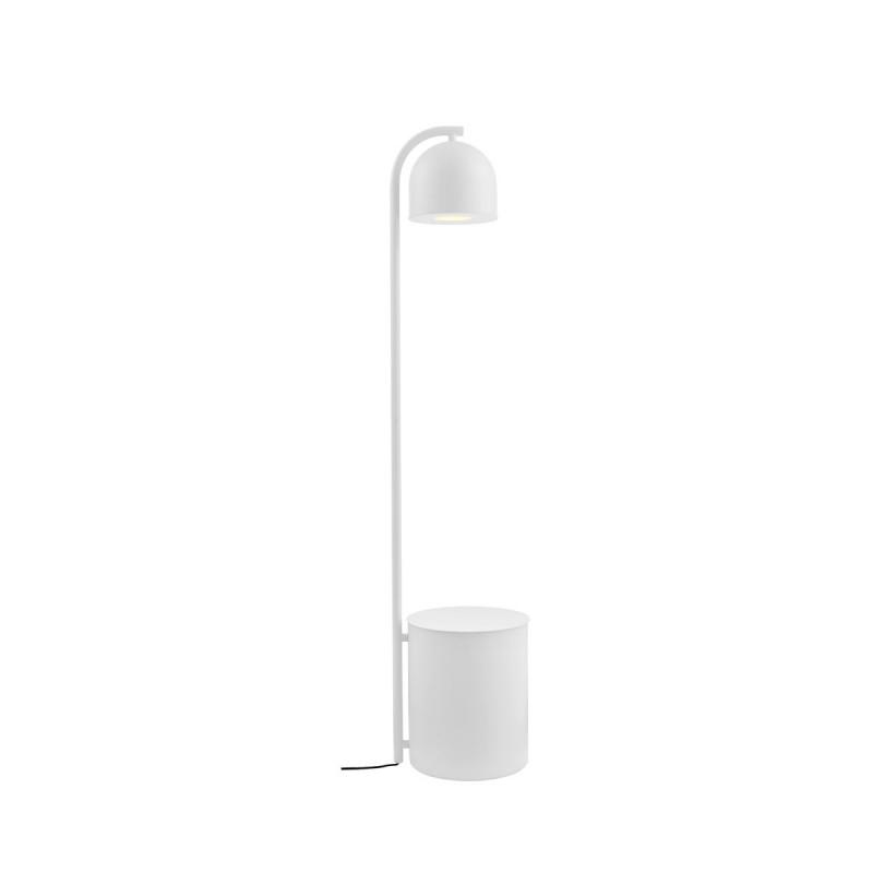 BOTANICA XL white floor lamp with flower pot, floor lamp KASPA