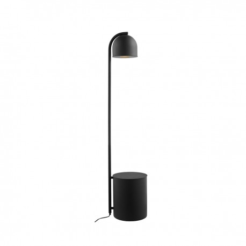 BOTANICA XL black floor lamp with flower pot, floor lamp KASPA