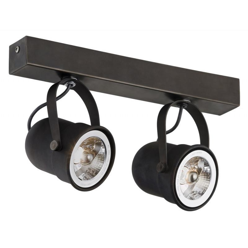 Retro 2 spotlight rail brown