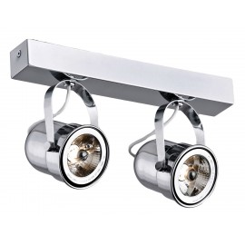 Retro 2 spotlight rail chrome