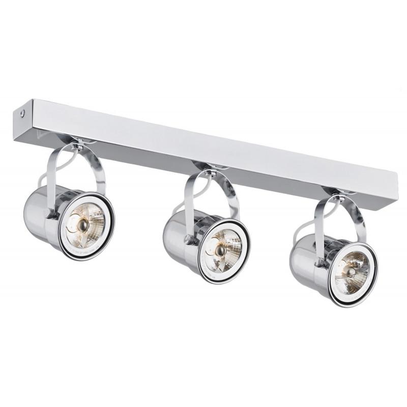 Retro 3 spotlight rail chrome