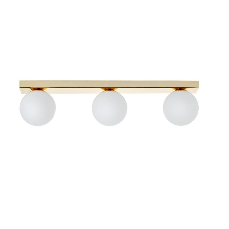 Ceiling lamp MIJA lampshades white balls gold frame KASPA