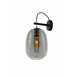 ONYX KINKIET wall lamp graphite, black, gold KASPA
