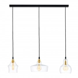 Longis Listwa 3 Pendant Light Rail Black KASPA