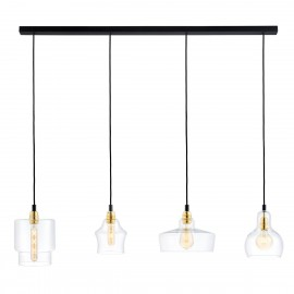 Longis Listwa 4 Pendant Light Rail Black KASPA