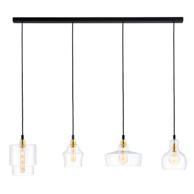 Sufitowa lampa wisząca Longis Listwa 4 Gold KASPA