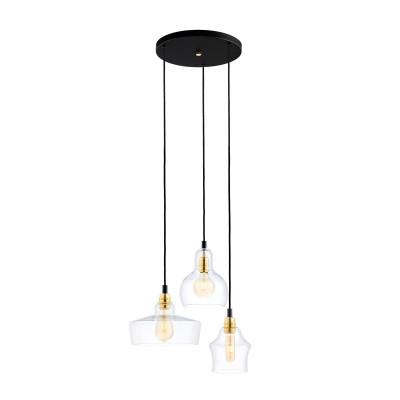 Sufitowa lampa wisząca Longis Plafon 3 Gold KASPA