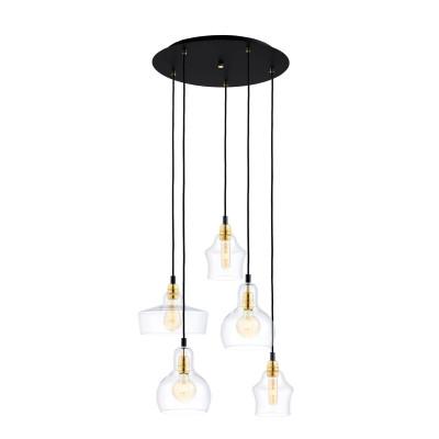 Sufitowa lampa wisząca Longis Plafon 5 Gold KASPA