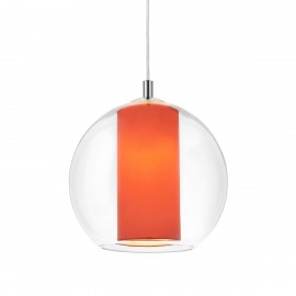 Ceiling hanging lamp Merida M coral lampshade in a transparent glass lampshade KASPA