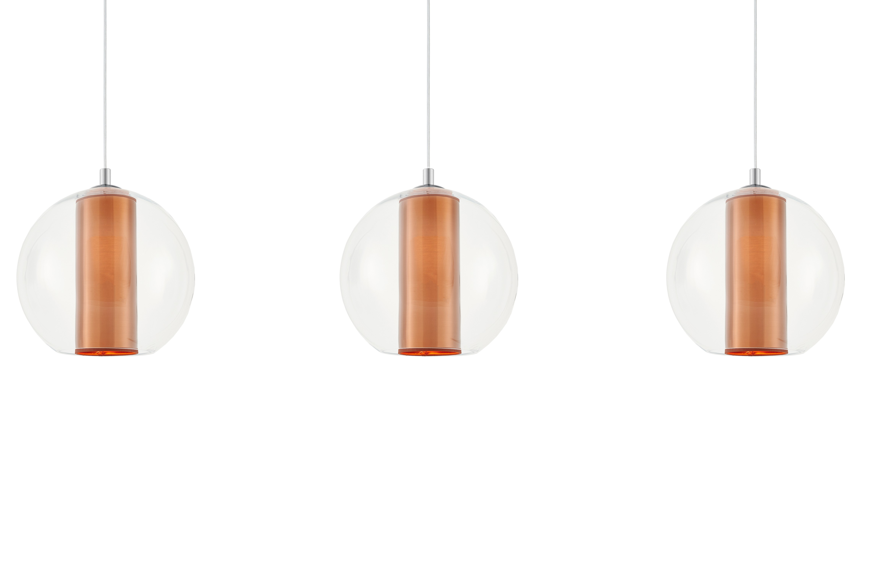 Sufitowa lampa wisząca Merida 3 Listwa abażur w kolorze