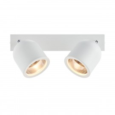 Podwójna lampa sufitowa biała SPARK 2 KASPA