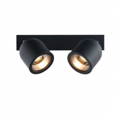 Czarna podwójna lampa sufitowa reflektor SPARK 2 KASPA